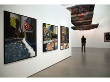"""Blick in die Ausstellung """"ruhelos"""" von Sighard Gille im Museum der bildenden Künste Leipzig"""