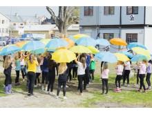 Första spadtaget för Storbrunn är taget. Det firades bland annat med en specialkomponerad dans som utfördes av elever från Östhammars kulturskola.