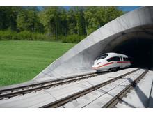 Höghastighetsjärnväg med tåg