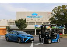 Toyota byter till bränslecellstruckar