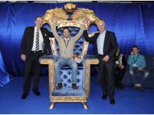 I fjol blev Peter Carlsson historisk världsmästare i V75.