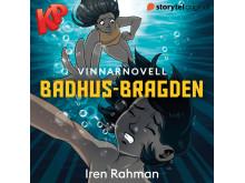 14-åriga Iren Rahman vann Storytels och KP:s novelltävling för barn med sin berättelse Badhusbragden. Bild: Storytel
