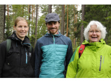 Eva-Maria Nordström, Jonathan Stoltz och Ann Dolling.