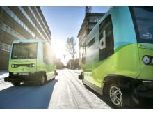 Självkörande bussar från Nobina