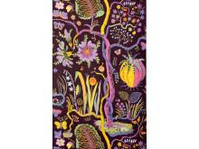 Textile print Hawai (brown) by Josef Frank