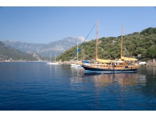 Gülletbåtar på Turkiets västkust.