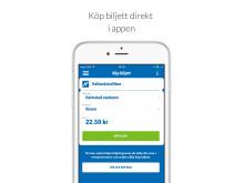 Köp biljett direkt i appen