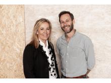 Johanna Nordstrand och Per Norberg, ansvariga arkitekter för Wester+Elsner arkitekter i Göteborg.