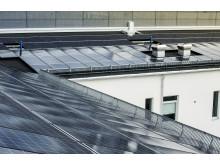 Solcellsinstallation på byggnadens tak ca 600 kvadratmeter, totalt ca 100 kW_2