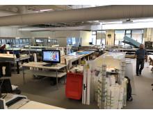 Sign Production har 20 opertører og 2500 kvadratmeter med produksjonslokaler på Årnes.