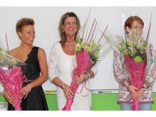 Finalisterna Maria Frid, Amii Rietz Christensen och Sandra Sundberg Årest VikVäktare 2012