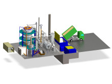 Illustration of demo gasification plant