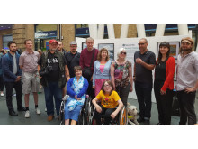 Artists taking part in the National Rail 'No Boundaries' exhibition