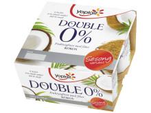 Yoplait Double 0% med sommerens smak av kokos