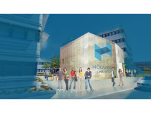 Elektronikcentrum i Halmstad (ECH) – arkitektskiss.