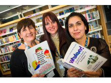 BOOKS ON PRESCRIPTION: Wendy Meston, Director of Public Health, Linda Fisher, Deputy Chief Executive of Rochdale Borough Council and Shabnam Sardar, Public Health Development Manager