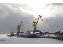 Gävle hamn vinter 2018