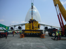 Major Move: a subsea tree ready to be loaded