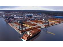 Nya Containerterminalen i Gävle Hamn.