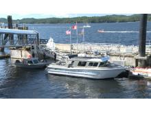 High res image - Raymarine - Charles Hays patrol vessel docked