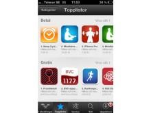 1177:s BVC-app i toppskiktet i Appstore