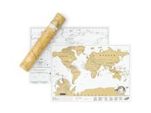 Världskarta - Scratch Map Original, A3-storlek