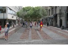 Skiss över hur den nya gatan ska se ut