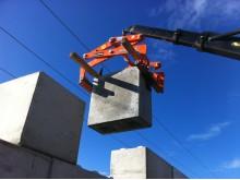 C3C monterar block för stödmurar på Falu Energi&Vatten