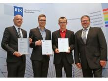 Carsten Klatt, Christoph Fella, Björn Rückert und Rafael D. Fröhlich (v. re.)