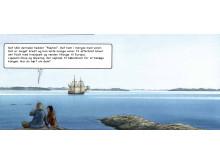 """4. Illustration fra tegneserien """"Tunissut""""/ """"Gaven"""""""