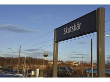 Mälarbanans sträckning mellan Skutskär och Furuvik har fått dubbla spår.