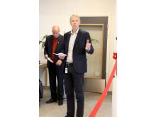 Direktør i Boligbygg, Jon Carlsen, ønsker velkommen til åpningen.