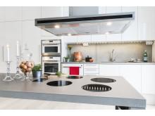 Köket i en av lägenheterna i det energismarta huset Hållbarheten som E.ON byggt i Västra hamnen