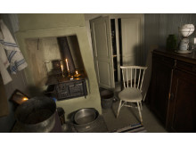 Blockmakarens hus. Emilias enkla kök i gårdshuset på Stigbergsgatan