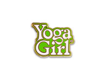Yoga Girl green logo pin
