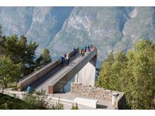Spektakuläre Szenerie oberhalb des Aurlandsfjords