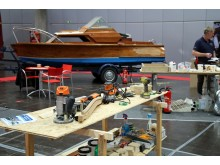 Pinnen-Bau-Workshop in der Beach & Boat Werkstatt in Halle 4