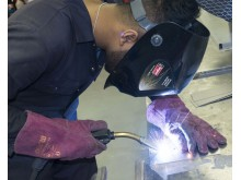 Apprentices in Action - butt welding