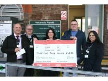 Chestnut Tree House donation at Arundel station