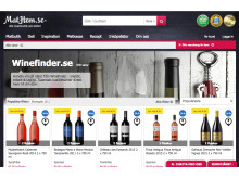 Skärmbild Winefinders butik på Mathem
