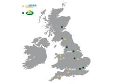 Karta: Arla och Milk Link i Storbritannien