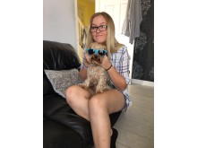 Jodie with dog