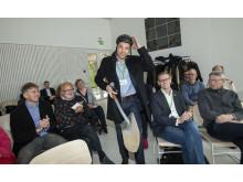 LKFs vd Fredrik Millertson tog ett digitalt första spadtag för innovationsprojektet Xplorion
