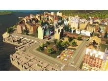 Cities: Skylines-modellen över Norra Djurgårdsstaden
