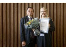 Michelle Bornemann Honoré og Tandlægeforeningens formand Freddie Sloth-Lisbjerg