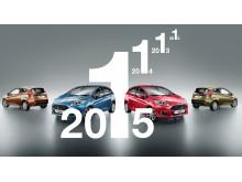 Ford Fiesta - Eurpas bestselgende småbil for 4. år på rad.