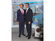 Cavotec CEO Ottonel Popesco and LA Mayor Eric Garcetti at PortTechEXPO
