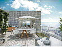 SeaU Helsingborg: flera lägenheter har även takterrass