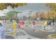 Regnlekplatsen invigs 8 december 2018