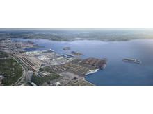 Visionsbild Nya hamnen i Arendal